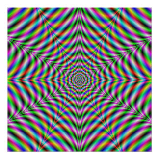 Poster  Twelve Pointed Psychedelic Web