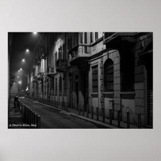Poster: Una calle en Milano, Italia Póster