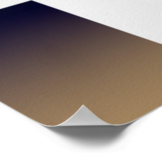 Poster uni Dark Blue-Gold Gradient