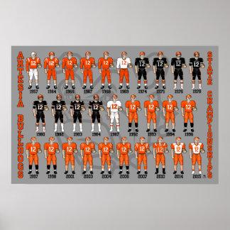 Poster uniforme de los campeones del estado de los