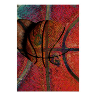 poster urbano de la bola del baloncesto