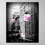 Poster urbano del arte de los globos de la luz de