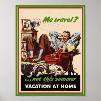 Poster Vacaciones en casa