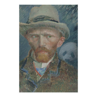 Poster: Van Gogh Self Portrait with Giant Panda Poster