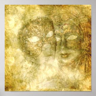 Poster veneciano de las máscaras