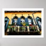 Poster veneciano del balcón