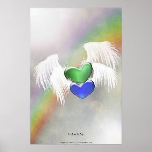 Poster verdadero del amor en vuelo