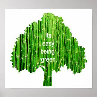 Poster verde
