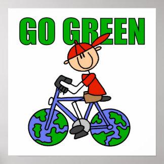 Poster verde de la bicicleta