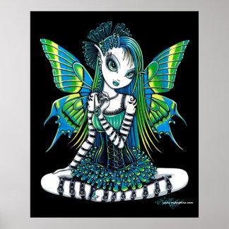 Poster verde de la hada del tatuaje de Katy