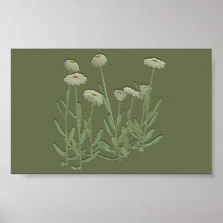 Poster verde de la pared de la margarita