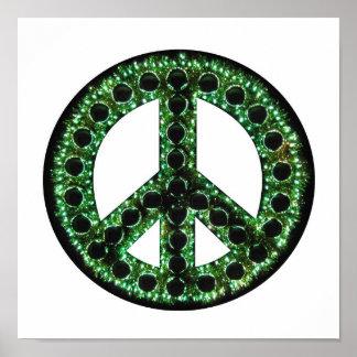 poster verde de la paz