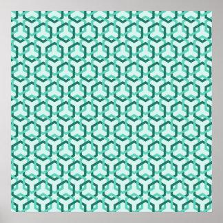 Poster verde de los maleficios de la aguamarina