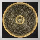 Poster verde de Thangka de la mandala de Tara