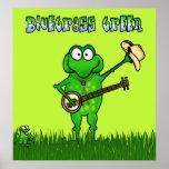 Poster verde del Bluegrass