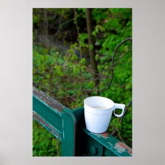Poster verde del café