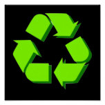 Poster verde del símbolo