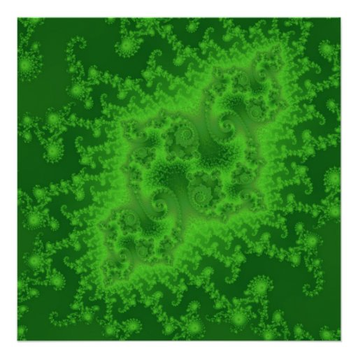 Poster verde eléctrico de las medusas