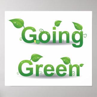 Poster verde que va