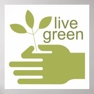 Poster verde vivo