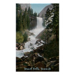 Poster vernal de Yosemite del vintage de las caída