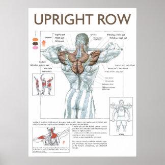 Poster vertical de la instrucción del ejercicio de