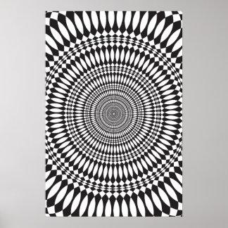 Poster: Vertigo: Black & White Abstract Poster