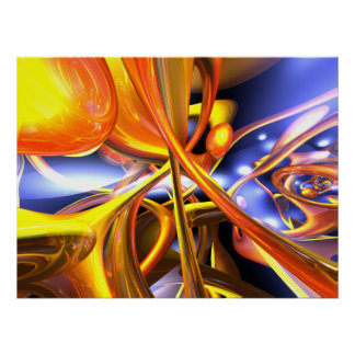 Poster vibrante del extracto del amor
