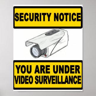 Poster video de la muestra del aviso de la segurid