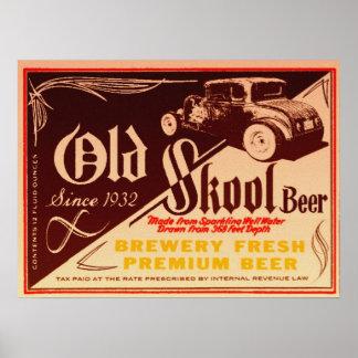 poster viejo de la cerveza del skool