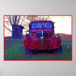 Poster viejo de la foto del camión