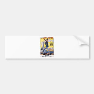 Poster viejo de los infantes de marina de los E.E. Etiqueta De Parachoque