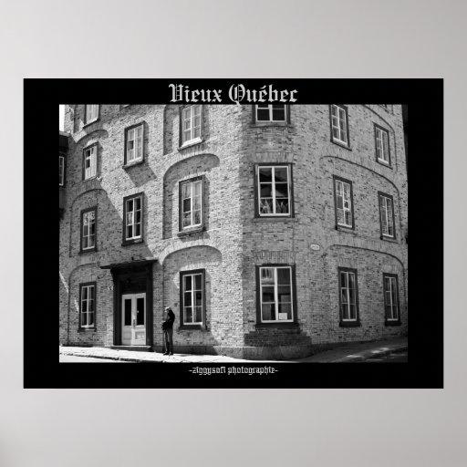 poster viejo de Québec Quebec del vieux