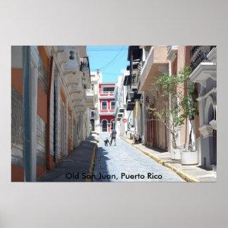 Poster viejo de San Juan