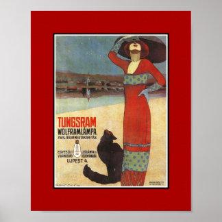 Poster Vintage Advertisements Tungsram Light Bulbs
