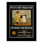 "Poster Vintage Advertisements ""Waste not want not"" Print"
