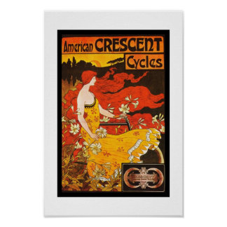 Poster Vintage American Crescent Cycles