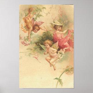 Poster-Vintage Angels Poster