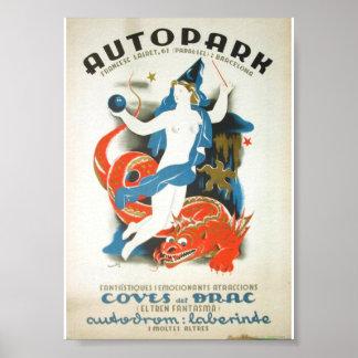 Poster Vintage Apolo Autopark (1936)
