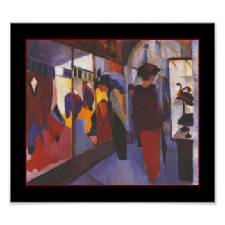 Poster Vintage Art August Macke Fashion store