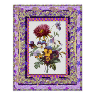 Poster Vintage Art Flowers Posters