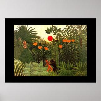 Poster Vintage Art Paysage exotique