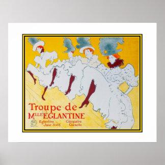 Poster Vintage Art Toulouse Lautrec Dancers