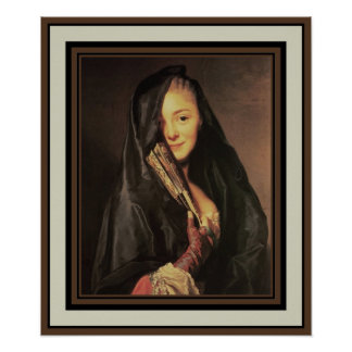 Poster Vintage Art Woman With Veil 1718-1793 Posters