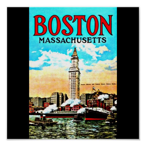 Poster-Vintage Boston Artwork-32 Poster