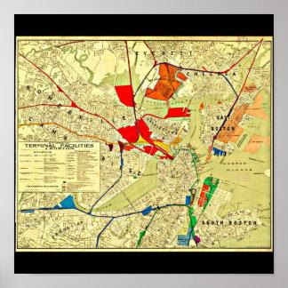 Poster-Vintage Boston Maps-24