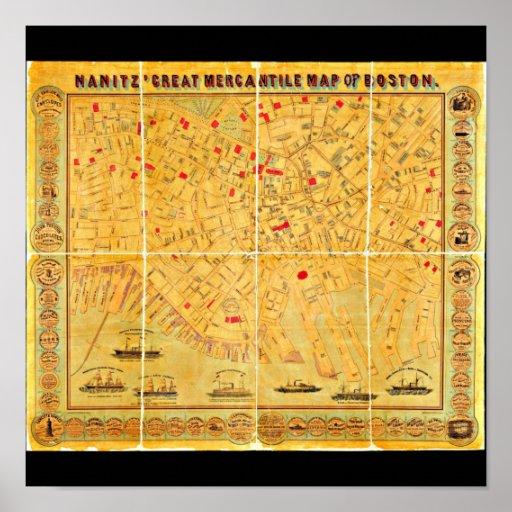 Poster-Vintage Boston Maps-4 Poster