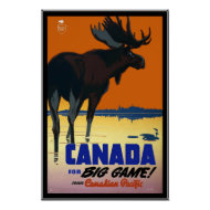 Poster Vintage Canada Travel