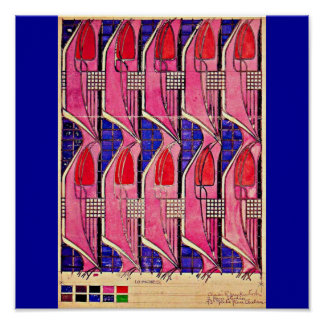 Poster-Vintage-Charles Rennie Mackintosh 14 Póster