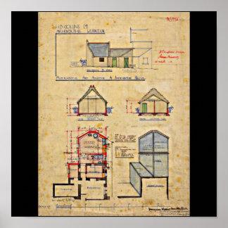 Poster-Vintage-Charles Rennie Mackintosh 15 Póster